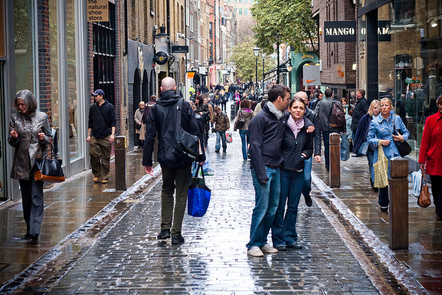 One of central London's most popular shopping areas, near Covent Garden.